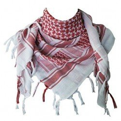 MFH - Shemagh Cheche keffiyeh red White - 16503I 110cm Military Airsoft