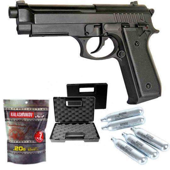 Pack airsoft Taurus PT92 ABS Co2