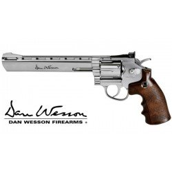 Dan Wesson 8 inch chrome and wood