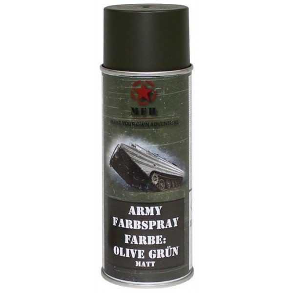 Airsoft camouflage special matte olive paint 400ml 27375e