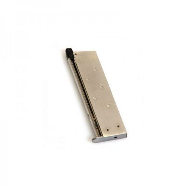 WE type 1911 17-ball gas charger, Chrome Airsoft 6mm