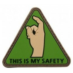 Patch PVC 3D This is my Safety